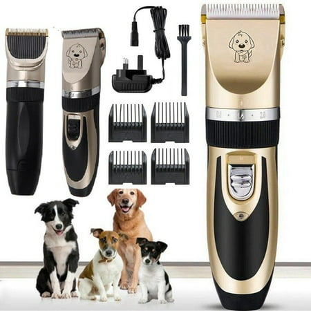 Professional Mute Cordless Electric Pet Cat Dog Hair Cutting Clipper Trimmer Shaver Grooming Set (Best Cat Grooming Clippers)