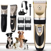 Electric Pet Hair Cutting Professional Mute Cordless Pet Grooming Kit Electric Pet Cat Dog Hair Cutting Clipper Trimmer Shaver Grooming Kit Set