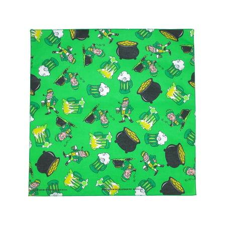 size  one size st. patrick's day party print bandana](Bandanas St Louis)