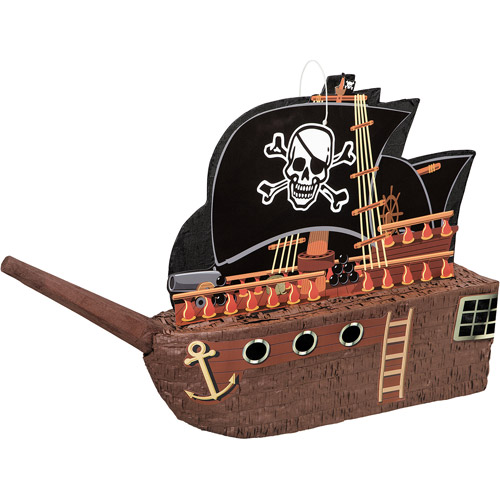 Pirate Ship Pinata, 26 x 17.5 in, 1ct