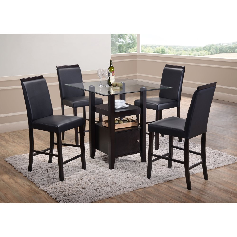 """lenn 5piece counter height dining set 35"""" square"""