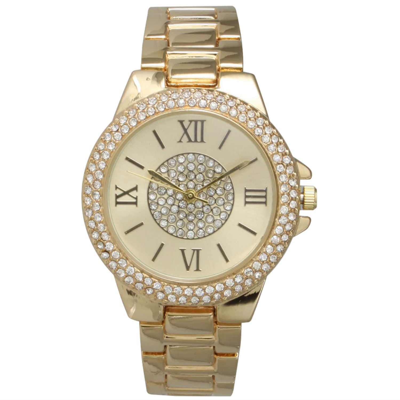 Olivia Pratt  Women's Simple Roman Numerals Rhinestone Bracelet Watch One Size