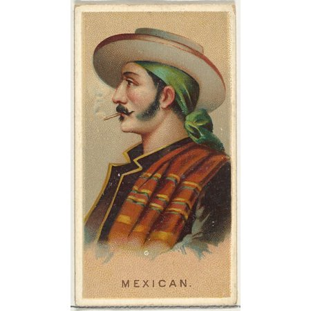 Mexican from Worlds Smokers series (N33) for Allen & Ginter Cigarettes Poster Print (18 x