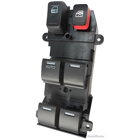 Honda Fit Master Power Window Switch 2009-2014 (2009 2010 2011 2012 2013 2014) (electric control panel lock button auto driver passenger door)