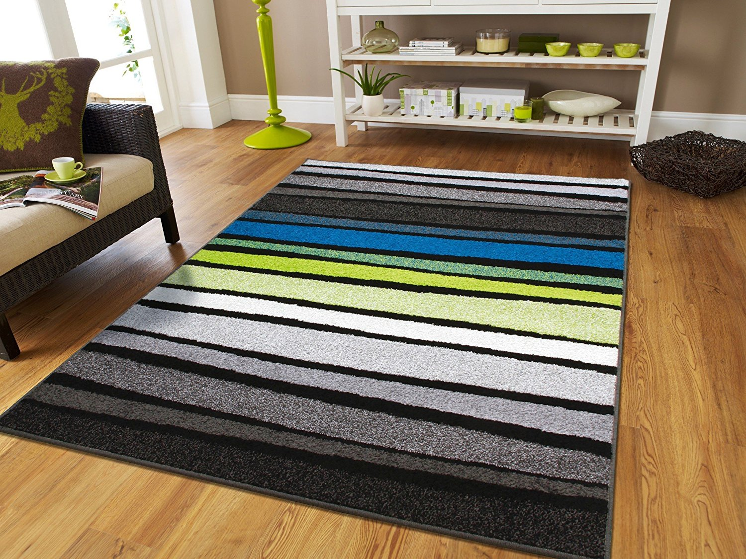 Elegant Contemporary Rugs 8x10 Area Rug On Clearance 8x11 Rugs For Living Room Blue  Black Turquoise White