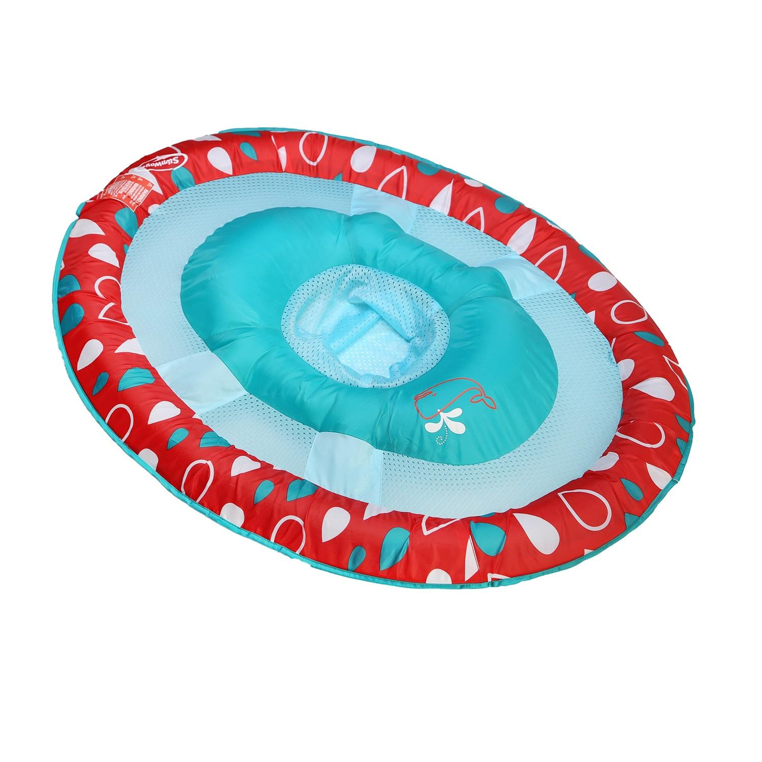 """36"""" Blue and Red Swimming Pool Step 1 Baby Spring Float - image 1 de 2"""
