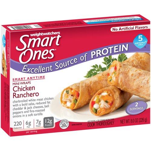 Weight Watchers Smart Ones Smart Anytime Chicken Ranchero Mini Wraps, 2 count, 8 oz