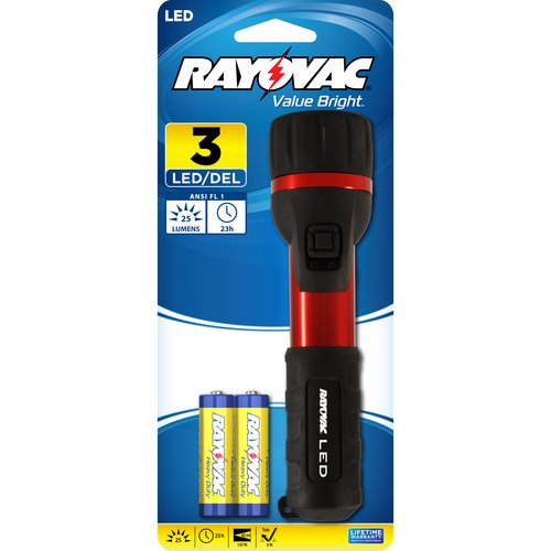 Rayovac 2 AA LED Aluminum Flashlight