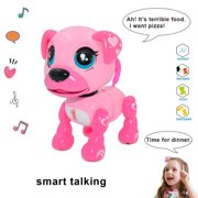amdohai Interactive Puppy - Smart Pet, Electronic Robot Dog Toys for Age 3 4 5 6 7 8 Year Old Girls, Gifts Idea for Kids ● Voice Control&Intelligent Talking (Pink) Pink