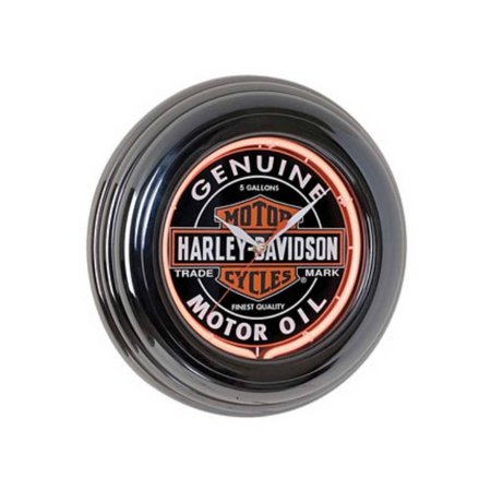 - Harley-Davidson Genuine Oil Can Orange Neon Clock HDL-16617, Harley Davidson