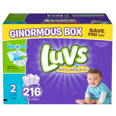 Luvs Ultra Leakguards Diapers, Size 2, 216 Diapers - Walmart.com