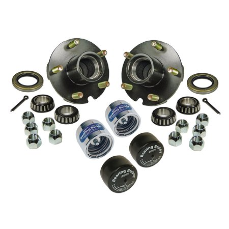 Trailer Hub Assemblies With Chrome Bearing Buddies and Bras - 1 Inch I.D. (Hub Assembly)