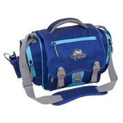 Okeechobee Fats Fishing Tackle Bag with 3 Medium Utility Lure Box Storage Containers, Blue