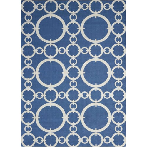 "Waverly Sun & Shade ""Connected"" Navy Indoor/Outdoor Area Rug by Nourison"