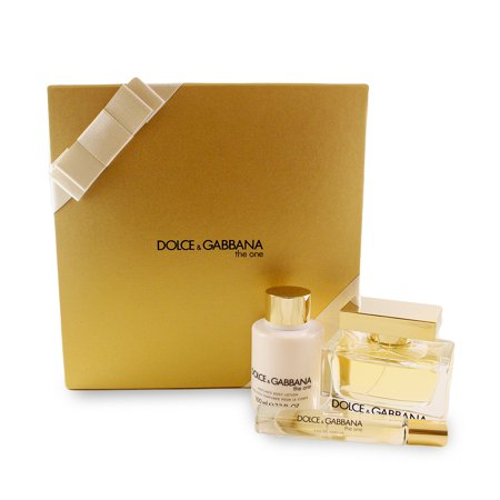 b48334e4b7 Dolce   Gabbana The One 3 Pc. Gift Set ( Eau De Parfum Spray 2.5 Oz +  Perfumed Body Lotion 3.3 Oz + Eau De Parfum Rollerball 0.25 Oz. ) for Women  by Dolce   ...