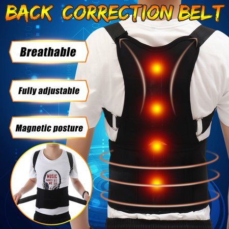 M/L/ XL Magnetic Therapy Posture Corrector Body Pain Brace Shoulder Back Support Belt