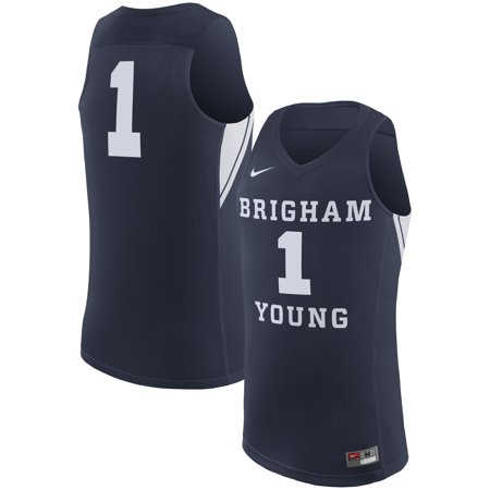 - BYU Cougars Nike College Replica Basketball Jersey - Navy