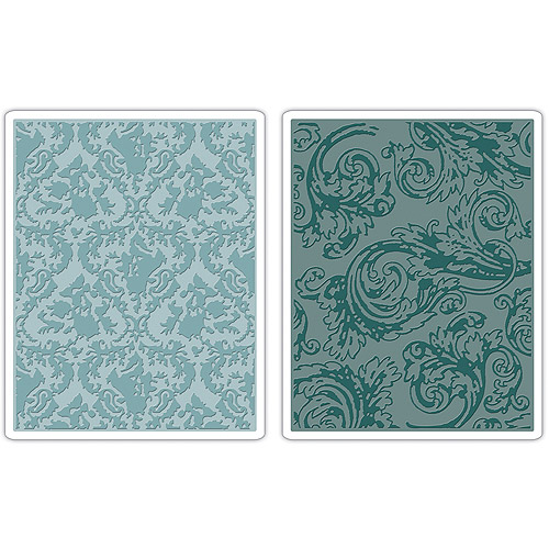 Tim Holtz Alterations Texture Fades Embossing Folders, Damask & Regal Flourishes