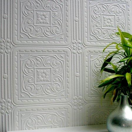 Brewster Turner Tile Paintable Textured Vinyl Wallpaper