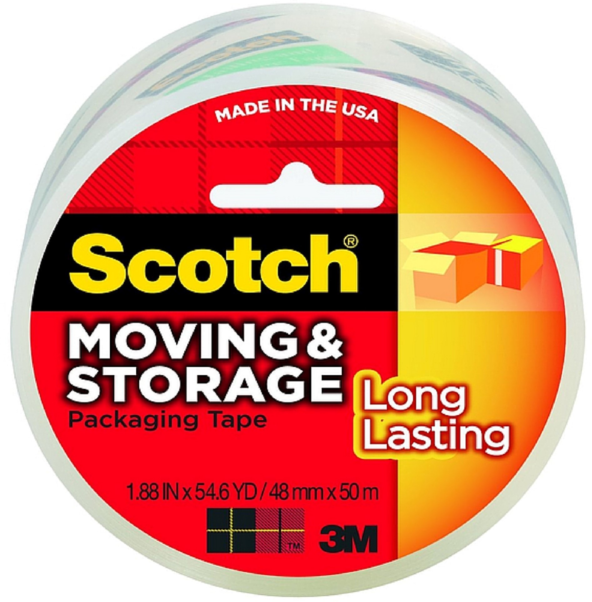 Scotch Moving Storage Long Lasting Packing Tape 1 ea (Pack of 2)