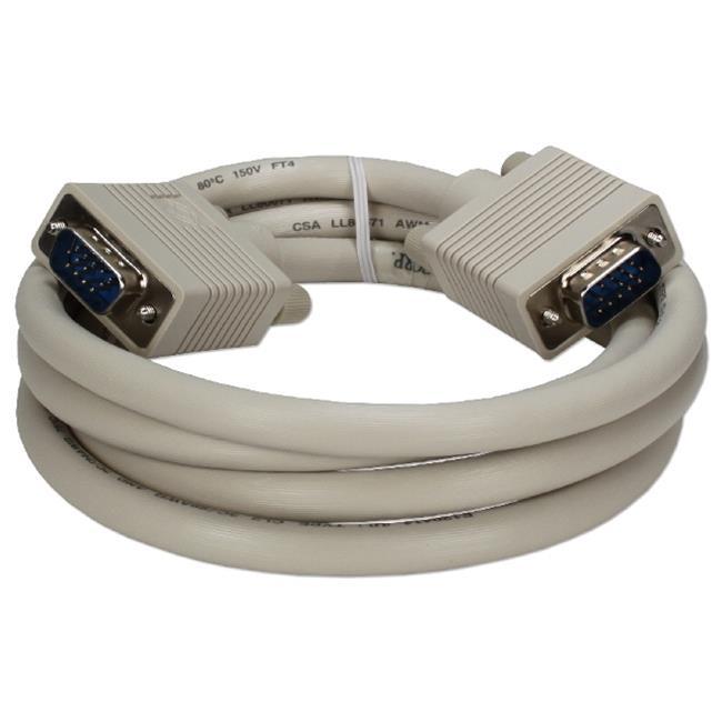 QVS CC388D-03 3 ft. Premium VGA HD15 Male to Male Tri-Shield Cable - image 1 of 1