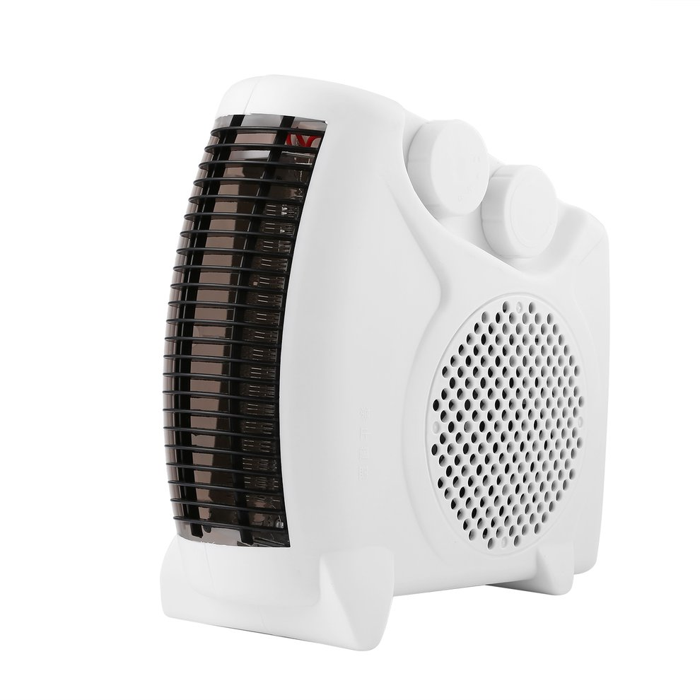 Adjustable Thermostat 1000W-2000W 5Hz Portable Room Floor Upright Flat Electric Fan