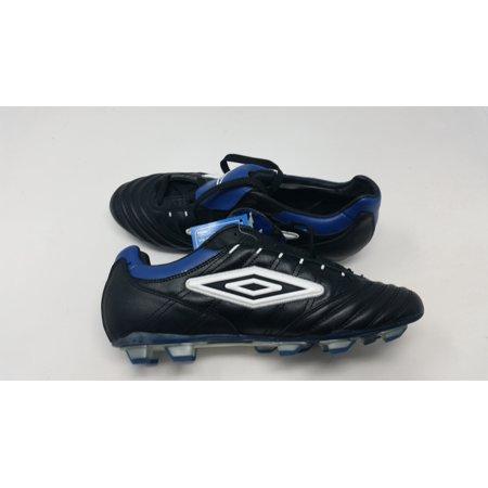 New Umbro Vortex K Women s 9.5 KTK-FG Soccer molded Cleats Black White Blue  - Walmart.com 33328931ddb