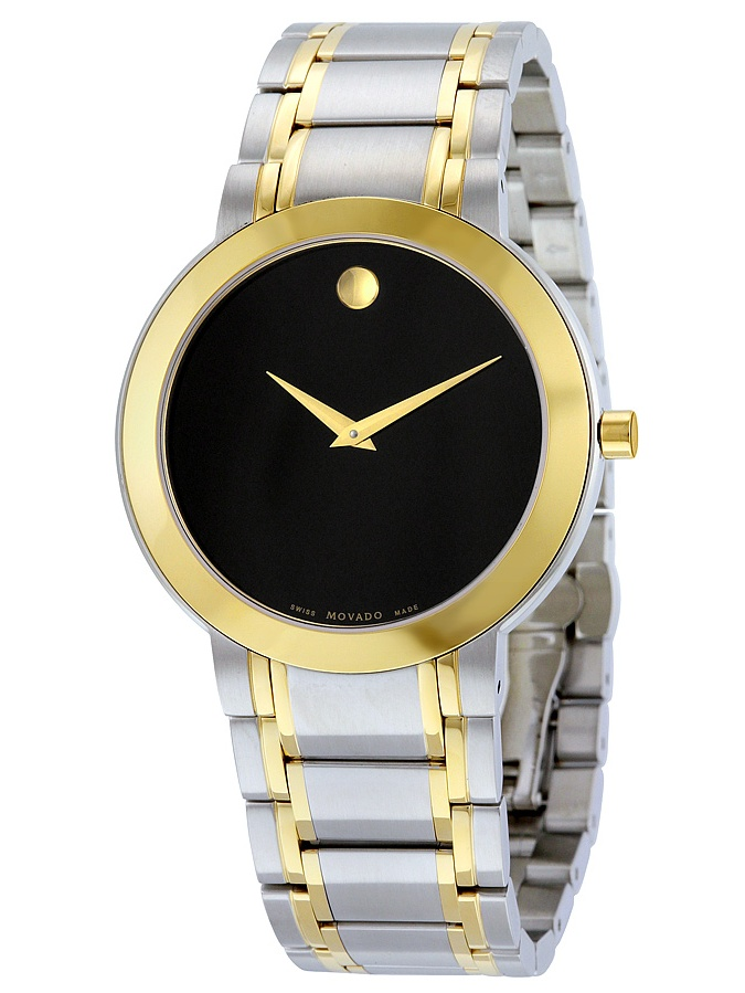 Stiri Black Dial Two-tone Mens Watch 606950