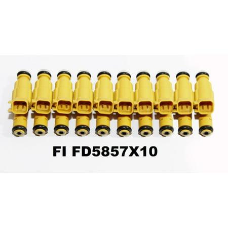 - 1set (10) Fuel Injectors for 99 Ford F-250 SuperDuty/F-350 SuperDuty 6.8L V10