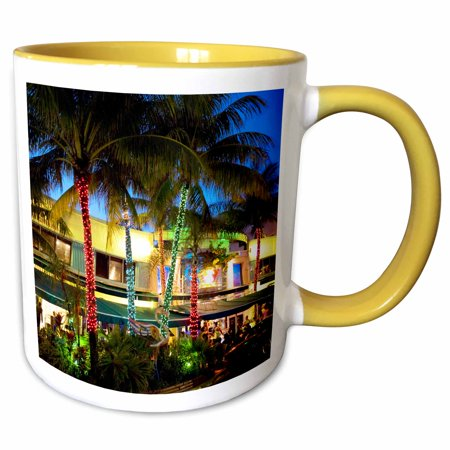 3dRose Ocean Drive, South Beach, Miami Beach, Florida - US10 GJO0300 - Greg Johnston - Two Tone Yellow Mug, 11-ounce](Miami Beach Halloween Party 2017)
