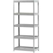 """Muscle Rack 36""""W x 18""""D x 72""""H Five-Shelf Steel Shelving, Silver"""