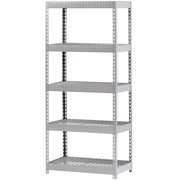 "Muscle Rack 36""W x 18""D x 72""H Five-Shelf Steel Shelving, Silver"