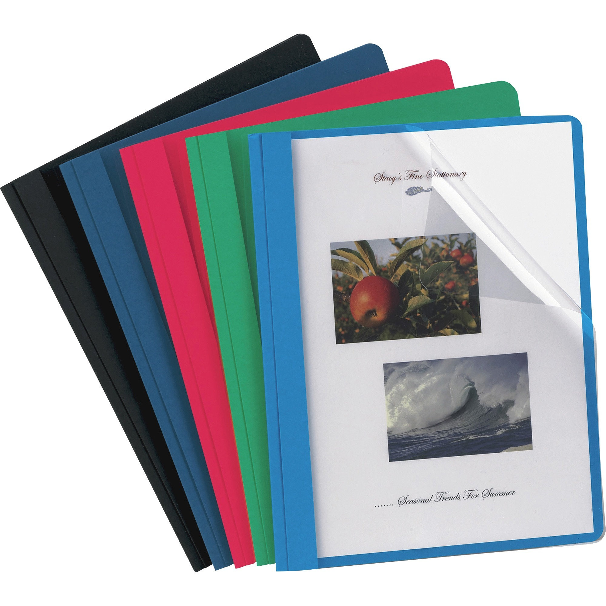 Oxford, OXF55813, Clear Front Report Covers, 25 / Box, Assorted
