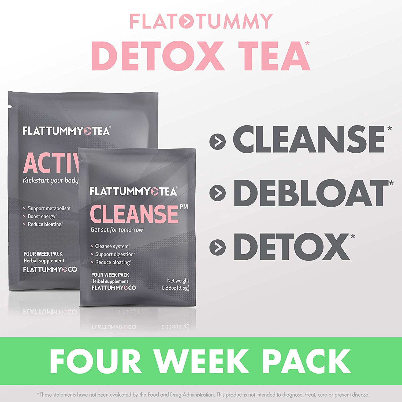 Flat Tummy Tea All-Natural Detox Tea, (4 Week Cleanse)
