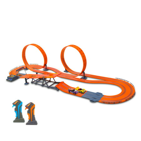 Hot Wheels Zero Gravity Slot Car Track Set, 24.9'