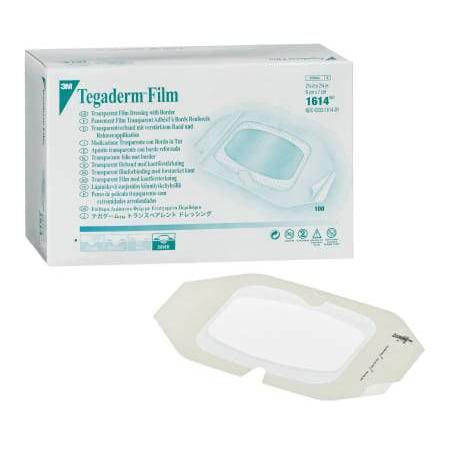 Tegaderm Transparent Film Dressing ''4 x 4.75 Inch, 10 Pack''