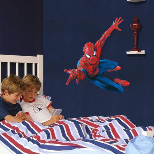 Superhero Spiderman Mural Wall Decal Sticker Kids Nursery Room Decor DIY PVC 3D