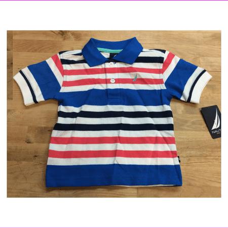 Nautica Baby Boys' Striped Polo T-shirt, Brilliant, Size 12M