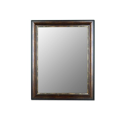 Wildon Home Cameo Collection Mirror in Crackled Brazilian Walnut Gold