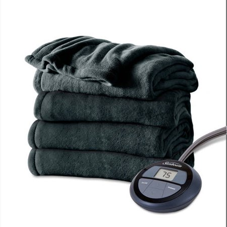 Sunbeam Electric Heated Microplush Blanket Walmart Com