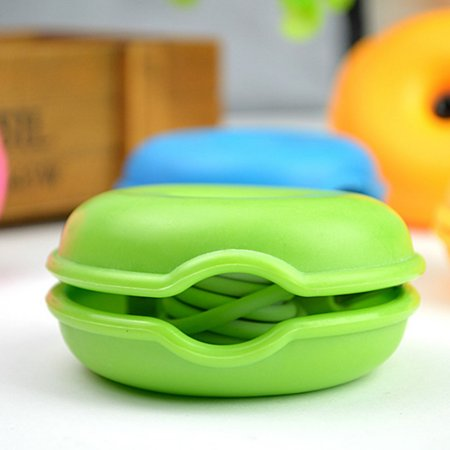 Random Color Round Shape Cable Cord Wire Organizer Headphone In Ear Earphones Bobbin Winder Smart Wrap - image 6 de 6
