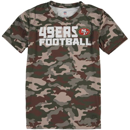 San Francisco 49ers Youth Sublimated Synthetic T-Shirt - Camo (Youth Camo Singlet Wrestling)