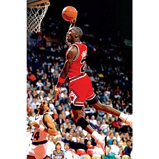 dramático aguja hierro  Michael Jordan Famous Foul Line Dunk Sports Poster Print 24x36 inches. -  Walmart.com - Walmart.com