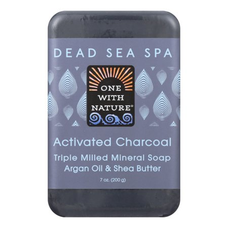 One With Nature Dead Sea Spa Activated Charcoal Mineral Soap 7 oz Bar(S) Dead Sea Spa Care