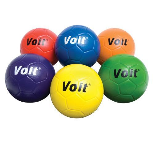 Voit Tuff Soccer Balls Coated Foam, Colored - Size 5