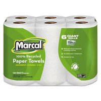 Marcal 6181 U-Size-It Kitchen 2-Ply Paper Towel Rolls, 6 Rolls