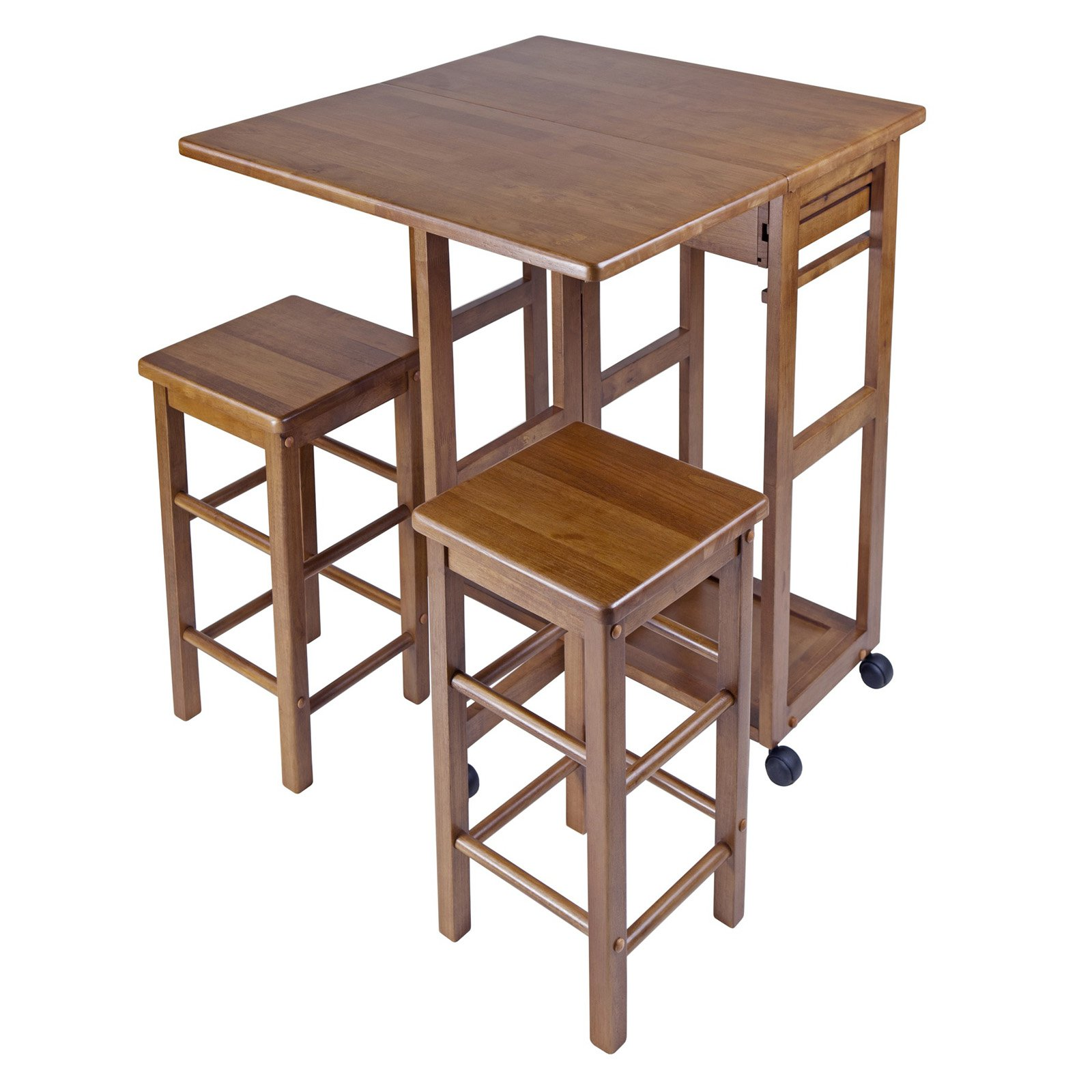 Winsome wood suzanne 3 piece kitchen cart with stools drop leaf winsome wood suzanne 3 piece kitchen cart with stools drop leaf teak finish walmart watchthetrailerfo