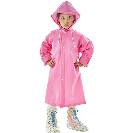 314b83e923c Coxeer - Coxeer Girls Boys Kids Raincoat Portable Rain Poncho with Hood    Long Sleeves for Travel Outdoor - Walmart.com