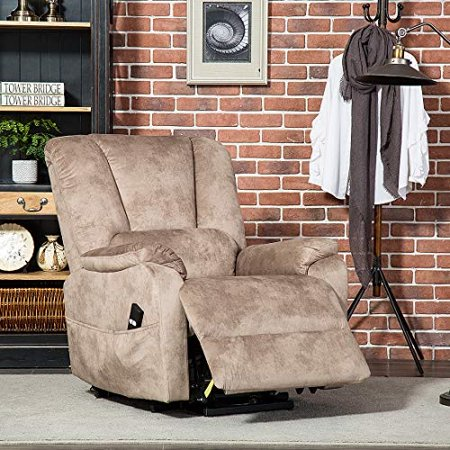 CANMOV Power Lift Recliner Chair for Elderly- Heavy Duty and Safety Motion  Reclining Mechanism-Antiskid Fabric Sofa Living Room