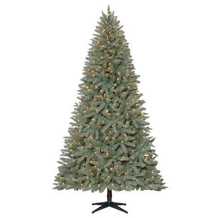 c359e69b07a2 Holiday Time 7.5ft Pre-Lit Birchwood Fir Artificial Christmas Tree with 500  Clear-Lights - Green
